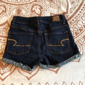American Eagle hi rise jean shorts